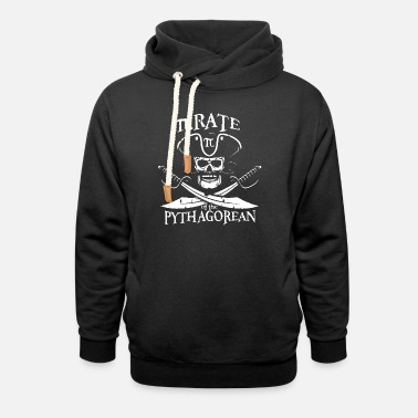 Pythagorean Pirate of the Pythagorean - Unisex Shawl Collar Hoodie