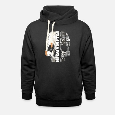 Word Heavy Metal Word Cloud - Unisex Shawl Collar Hoodie
