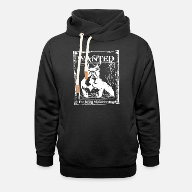 Wanted for Being MISUNDERSTOOD Men s Pitbull T Shi - Unisex Shawl Collar Hoodie