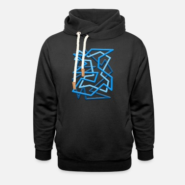 Weightless Weightless Waterfall - Unisex Shawl Collar Hoodie