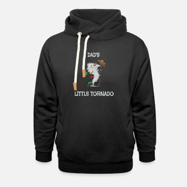 Cute Tornado Cute Dad's Little Tornado Kids - Unisex Shawl Collar Hoodie