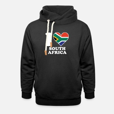 Africa I Love South Africa South African Flag Heart - Unisex Shawl Collar Hoodie