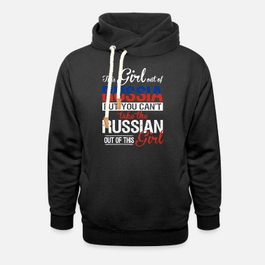 Russian Circles Russia - You can't take the russian out of her - Unisex Shawl Collar Hoodie