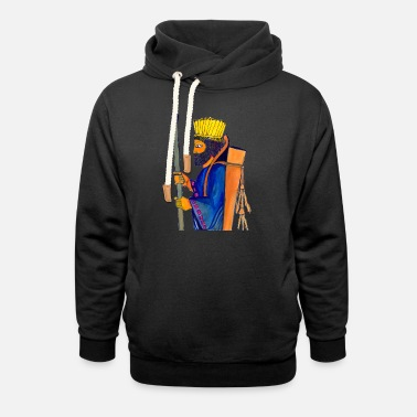 History Of Iran A Persian Guard watercolor painting - Unisex Shawl Collar Hoodie