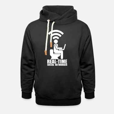 Social Network Real time social networker - Unisex Shawl Collar Hoodie