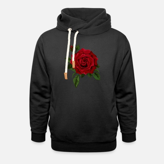 Rose  Hoodies & Sweatshirts - Rosebud - Unisex Shawl Collar Hoodie black