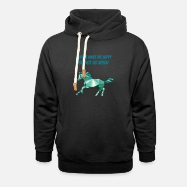 Wild Horse horse watercolor art for horse riders and horsback - Unisex Shawl Collar Hoodie