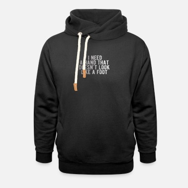 Jackpot POKER: i need a hand that doesn't look like a foot - Unisex Shawl Collar Hoodie