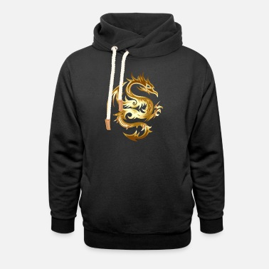 Gold Epic Golden Dragon Looks Awesome Perfect Gift Idea - Unisex Shawl Collar Hoodie