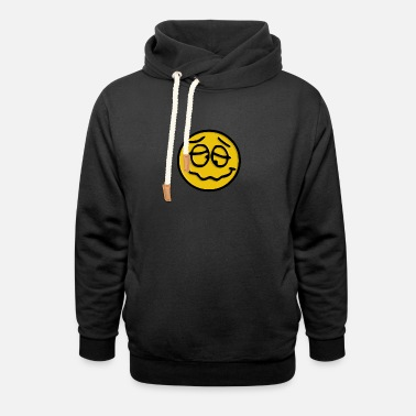 Foolish Crazy Smiley - Unisex Shawl Collar Hoodie