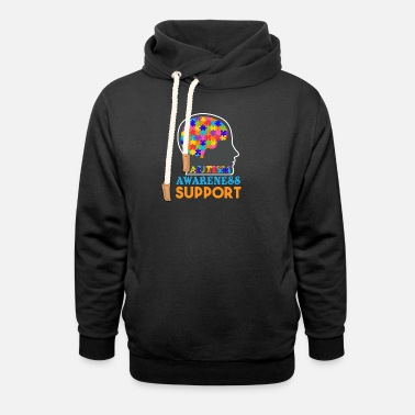 Spectrum Autism Awareness - Unisex Shawl Collar Hoodie