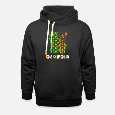 Cinco De Mayo United States Cinco De Mayo Georgia - Unisex Shawl Collar Hoodie