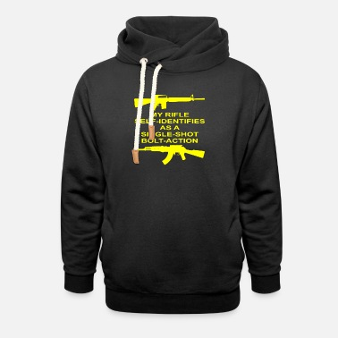 Bolt-action Rifles My Rifle Self Identifies As A Single Shot Bolt Act - Unisex Shawl Collar Hoodie