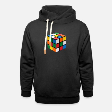 Rubiks Cube Cube Puzzle - Unisex Shawl Collar Hoodie
