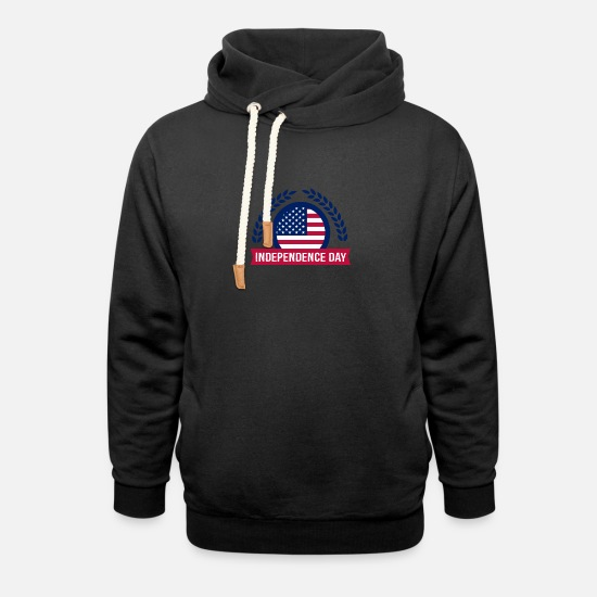 Independence Hoodies & Sweatshirts - Fourth of July Independence day - Unisex Shawl Collar Hoodie black
