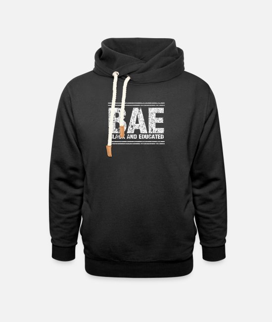 American Hoodies & Sweatshirts - BAE Black and Educated - Unisex Shawl Collar Hoodie black