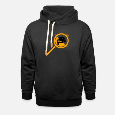 Bolt-action Rifles PUBG Helmet and Pan - Unisex Shawl Collar Hoodie
