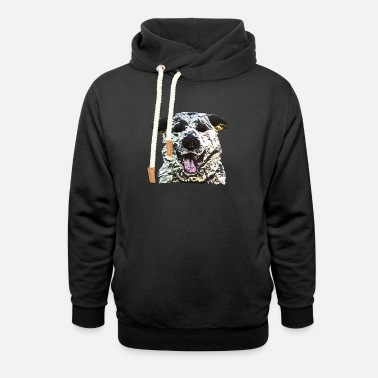 Labrador love dog lover polygon animal design - Unisex Shawl Collar Hoodie