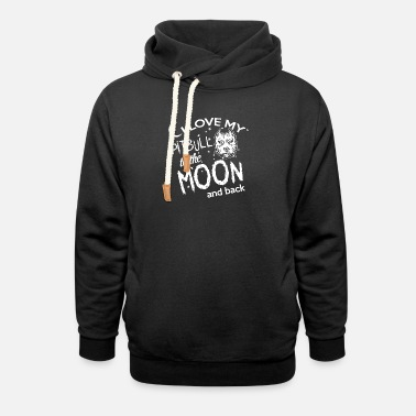 I Love my Pit Bull to the Moon and back - Unisex Shawl Collar Hoodie