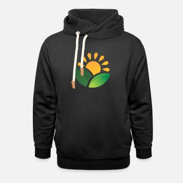 Obscure Sunrise Obscured Leaves - Unisex Shawl Collar Hoodie
