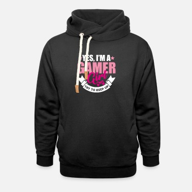 Sleeping Yes I'm a gamer girl try to keep up gamer gift - Unisex Shawl Collar Hoodie