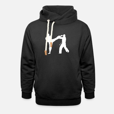 Gym head kick - Unisex Shawl Collar Hoodie