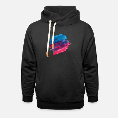 Paint Brush paint brush - Unisex Shawl Collar Hoodie