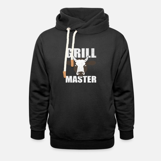 Grill Hoodies & Sweatshirts - Funny Grill Party Grilling Master BBQ Summer Gift - Unisex Shawl Collar Hoodie black