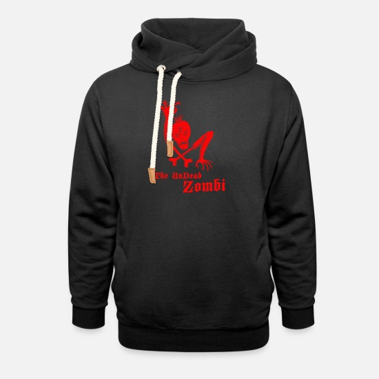 Art Hoodies & Sweatshirts - The undead zombi - Unisex Shawl Collar Hoodie black