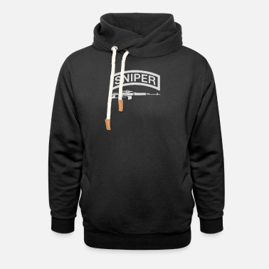 Firearms Sniper Rifle firearms Logo - Unisex Shawl Collar Hoodie