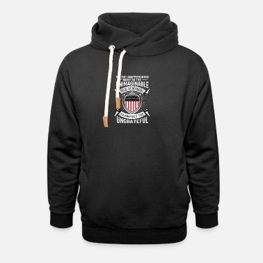 Serve To protect the ungrateful... - Gift idea - Police - Unisex Shawl Collar Hoodie
