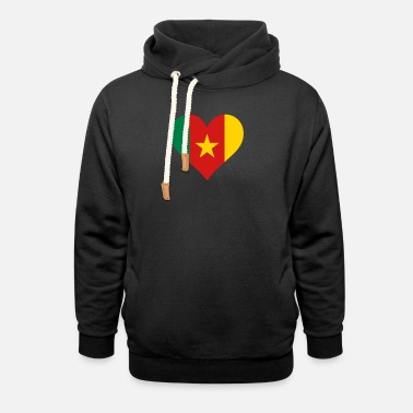 Cameroon A Heart For Cameroon - Unisex Shawl Collar Hoodie