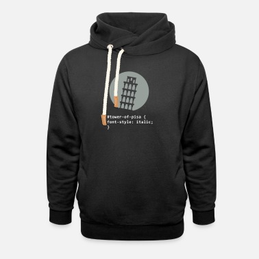 Inclined Tower The Tower Of Pisa - Unisex Shawl Collar Hoodie