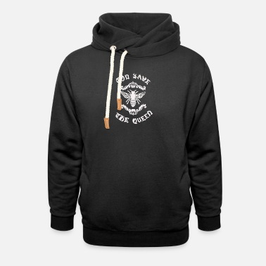 Save The Honey God Save Honey Bee - Unisex Shawl Collar Hoodie