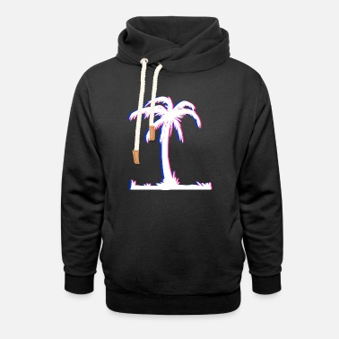Sun Holiday Vacation Palm Trees - Unisex Shawl Collar Hoodie