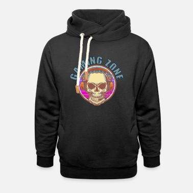 Gamers Funny quote saying gaming zone - Unisex Shawl Collar Hoodie