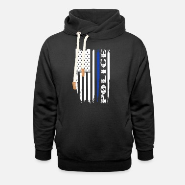 Police Force Police Flag Officer Police Force - Unisex Shawl Collar Hoodie