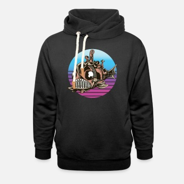 Cyberpunk Vintage Steampunk Mechanical Fish - Unisex Shawl Collar Hoodie