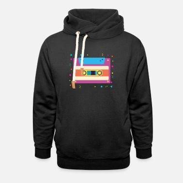Cassette Cassette Tape 90's 1990s Nineties Music Retro - Unisex Shawl Collar Hoodie