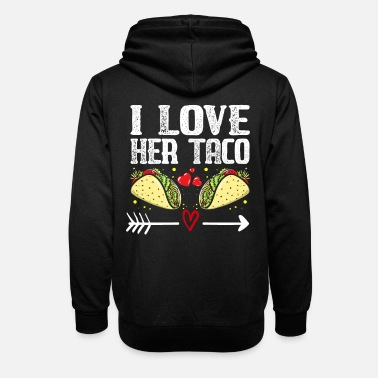 Couple I Love Here Taco Matching Couple Cinco De Mayo - Unisex Shawl Collar Hoodie