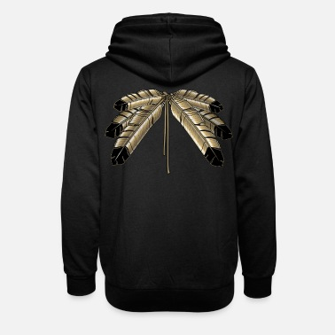Eagle Feather Shirts Tribal Art Shirts & Gifts - Unisex Shawl Collar Hoodie
