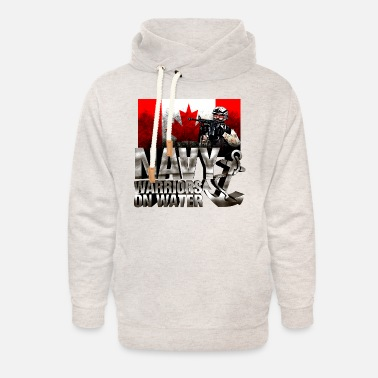 Canadian Navy Warriors on Water - Unisex Shawl Collar Hoodie