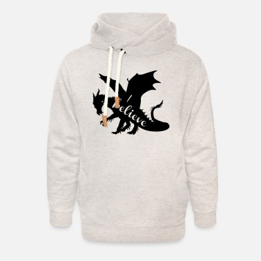 Dragon I Believe - Unisex Shawl Collar Hoodie
