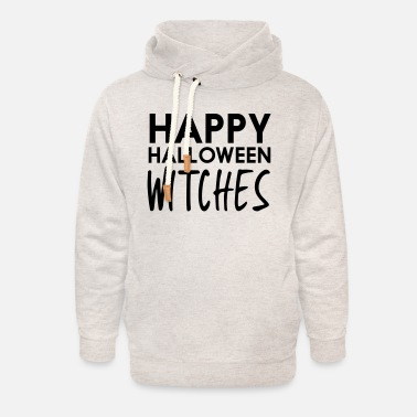 Witch Attitude Happy hallowen witches - Unisex Shawl Collar Hoodie