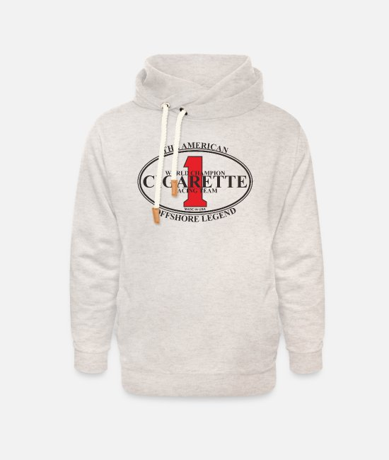 Cigarette Hoodies & Sweatshirts - CIGARETTE 1 - Unisex Shawl Collar Hoodie heather oatmeal