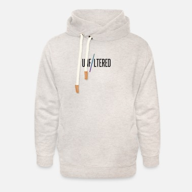 unfiltered logo transpare - Unisex Shawl Collar Hoodie