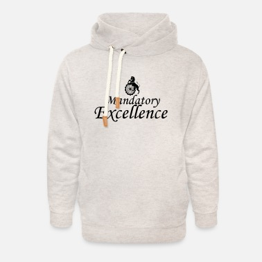 Mandatory Excellence Black - Unisex Shawl Collar Hoodie