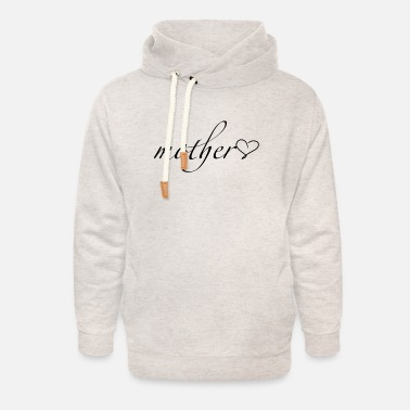 Heart Gal Mother with heart - Unisex Shawl Collar Hoodie