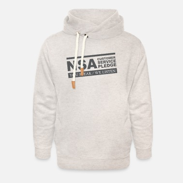 NSA Customer Service Pledge T Shirt - Unisex Shawl Collar Hoodie