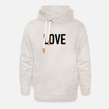 Love - lovely - heart - loving - romance - Unisex Shawl Collar Hoodie
